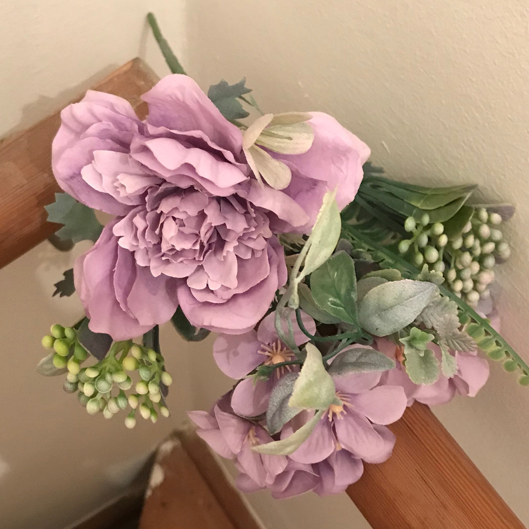 lilac colour artificial flower bush