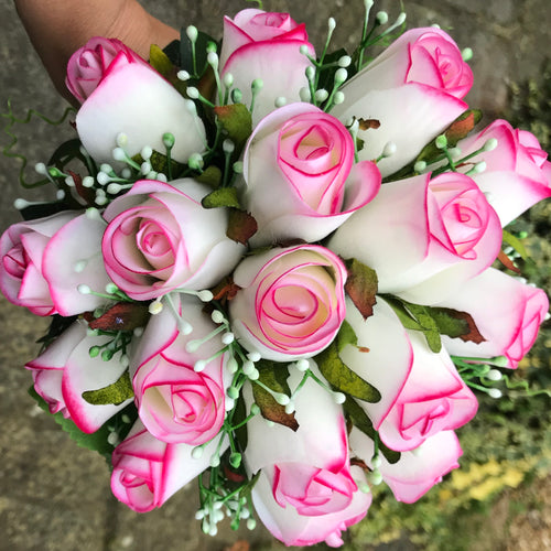 wedding bouquet of artificial roses