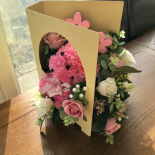New baby girl artificial flower arrangement