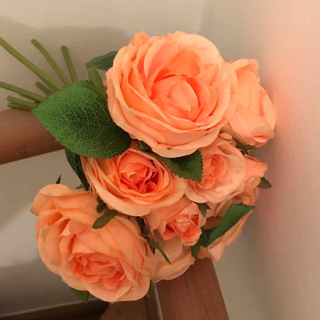 deep peach artificial roses