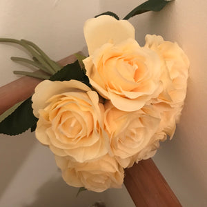 artificial champagne coloured roses
