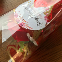 Red Soap Rose cello wrap