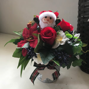 christmas artificial flower arrangement