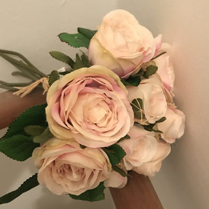 blush pink artificial roses