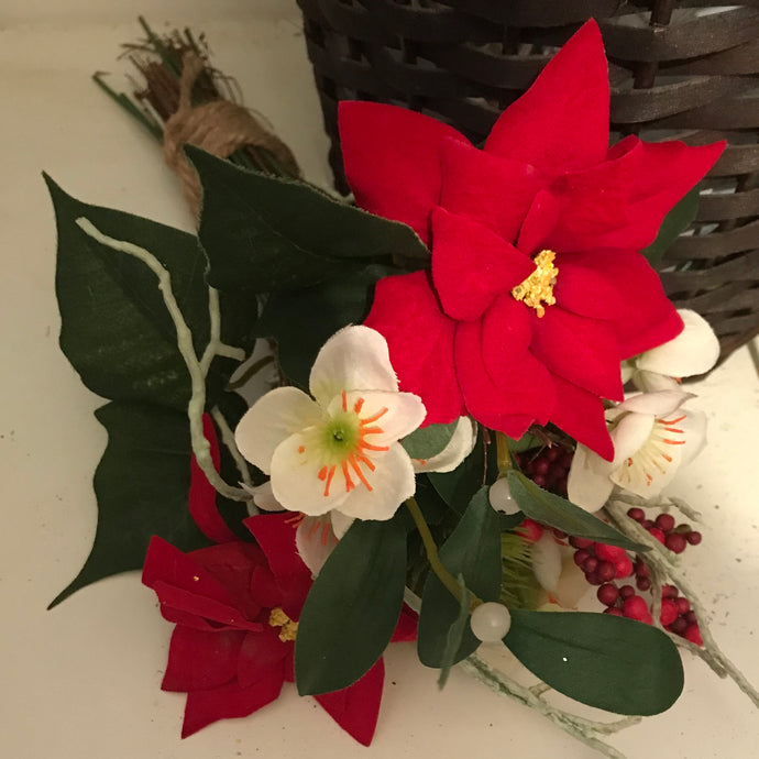 artificial bunch of christmas flowers