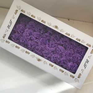 BULK BUY - luxury craft soap carnation heads - lilac