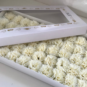 cream soap carnations