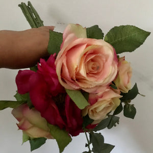 LAST ONE  - a wedding posy of artificial rose flowers