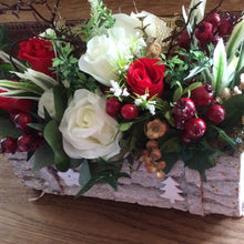 arrangement of christmas flowers