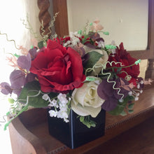 flower arrangement of silk flowers