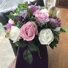 mauve and dusky pink handtied bouquet