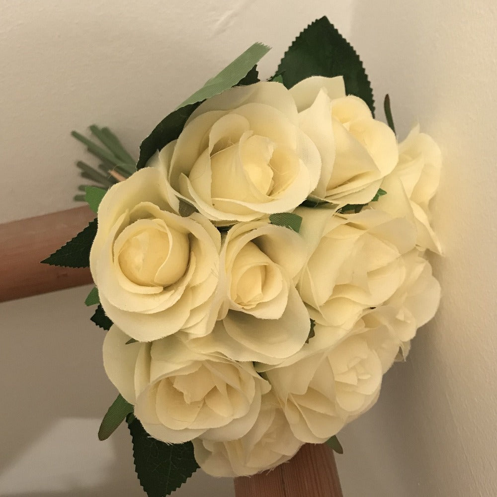 artificial lemon rose bunch