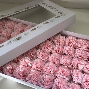 pink soap carnations