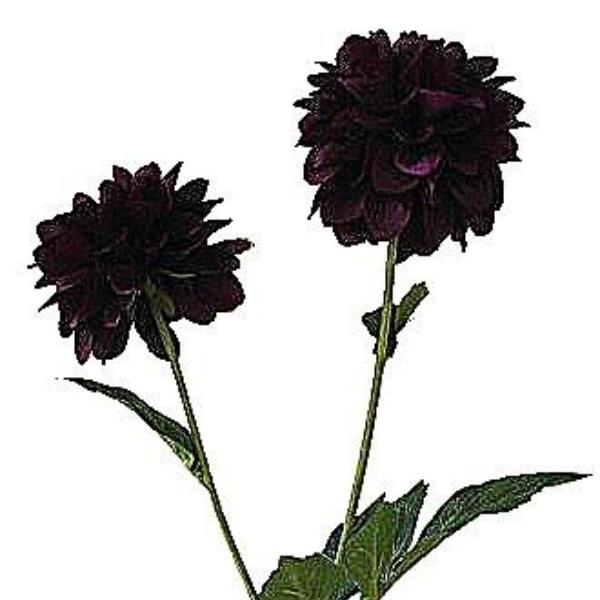 an artificial purple pompom dahlia silk flower spray