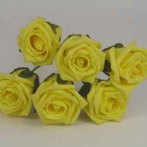6cm light yellow foam roses