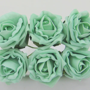 6cm mint coloured foam roses