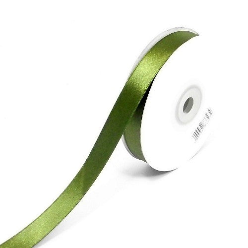 moss green double sided satin ribbon