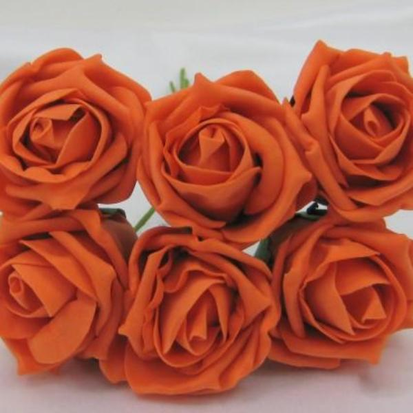 6cm orange foam roses