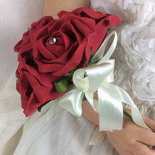 flower girls bouquet of red foam roses