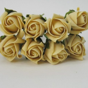 3cm gold coloured foam roses