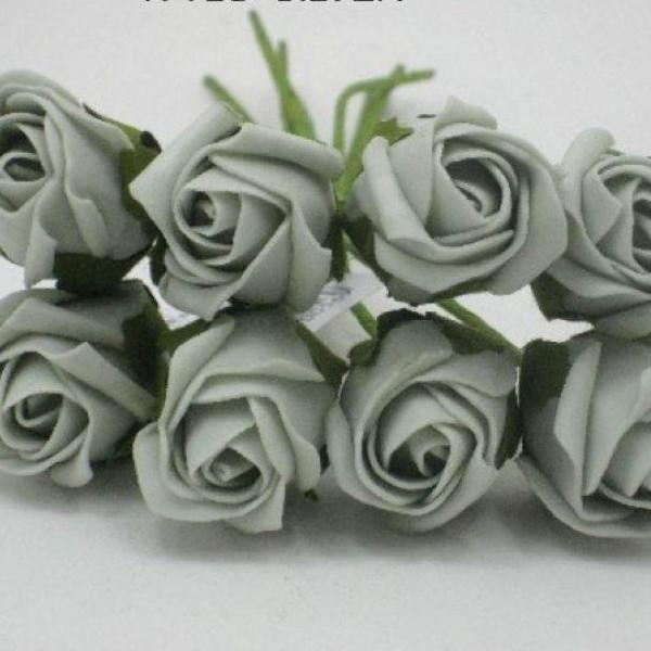 3cm silver coloured foam rose