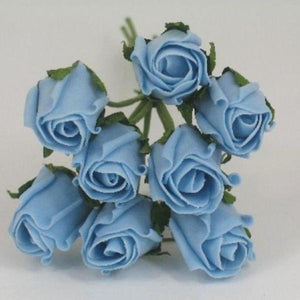3cm light blue foam roses