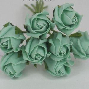 3cm mint green foam roses