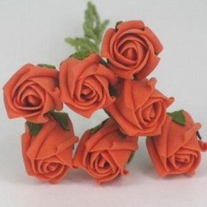 3cm orange foam roses