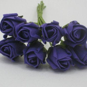 3cm purple foam roses