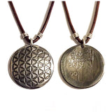 flower of life charm, flower of life necklace, flower of life jewelry, flower of life gifts, sacred geometry gifts, sacred geometry charm, sacred geometry necklace, sacred geometry jewelry, italian gifts, italian necklace, italian charm, italian jewelry, italian fashion, italy gifts, italy charm, italy necklace, italy jewelry, minerva charm, minerva necklace, minerva jewelry, manmadedesign, etched coin, coin jewelry, coin necklace, coin charm, shop small, made in america, small business