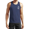 The Icon Performance Activewear Bamboo Tank Top Blue | Gym Apparel, Activewear, Fitness Clothing and Sportswear