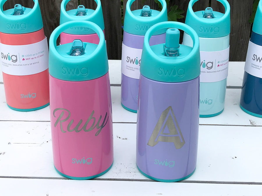 Swig 12oz Insulated Flip & Sip Bottle - Custom Rubber Stamps