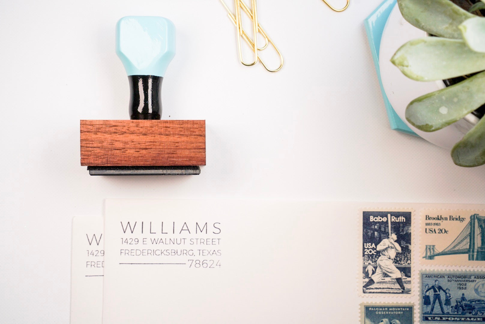 Clean Lined Mid Century - Custom Rubber Stamps