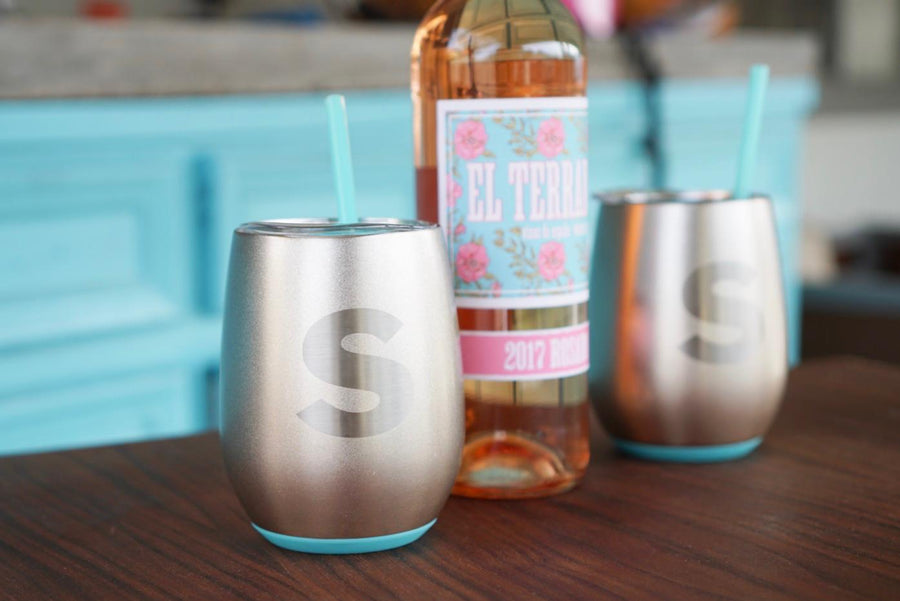 Swig 14oz Stemless Insulated Wine Glass - Custom Rubber Stamps