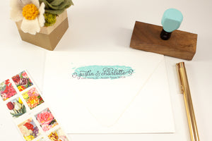 Two Tone Elegant Address - Custom Rubber Stamps