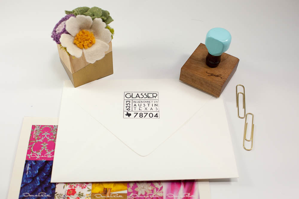 Mid Century Modern - Custom Rubber Stamps