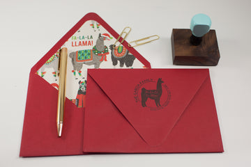 Llama Address Stamp - Custom Rubber Stamps