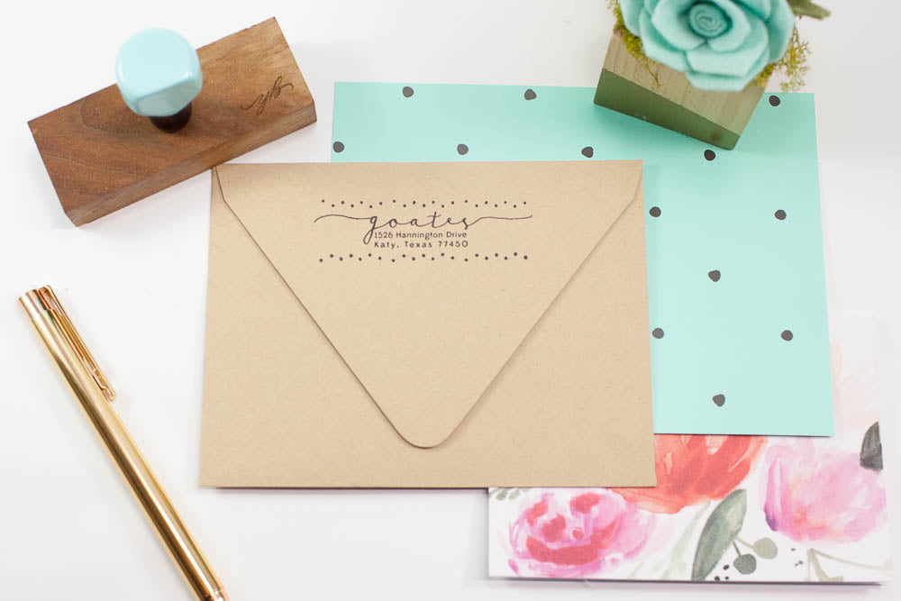 Confetti Address - Custom Rubber Stamps