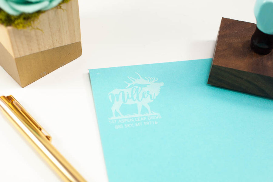 Elk Address - Custom Rubber Stamps