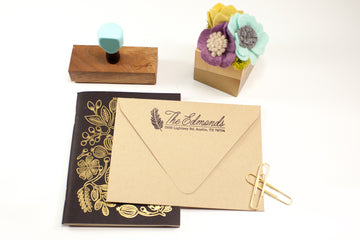 Feather Address - Custom Rubber Stamps