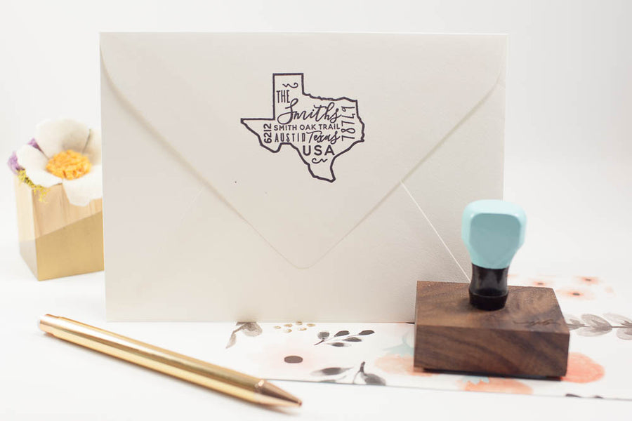 Multi Font State Address - Custom Rubber Stamps