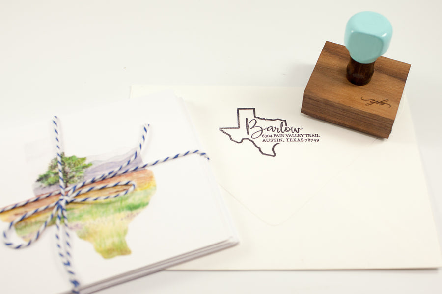State Script Address - Custom Rubber Stamps