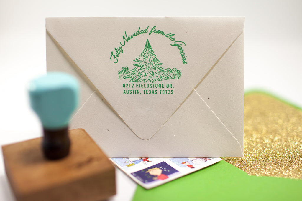 O' Christmas Tree - Custom Rubber Stamps