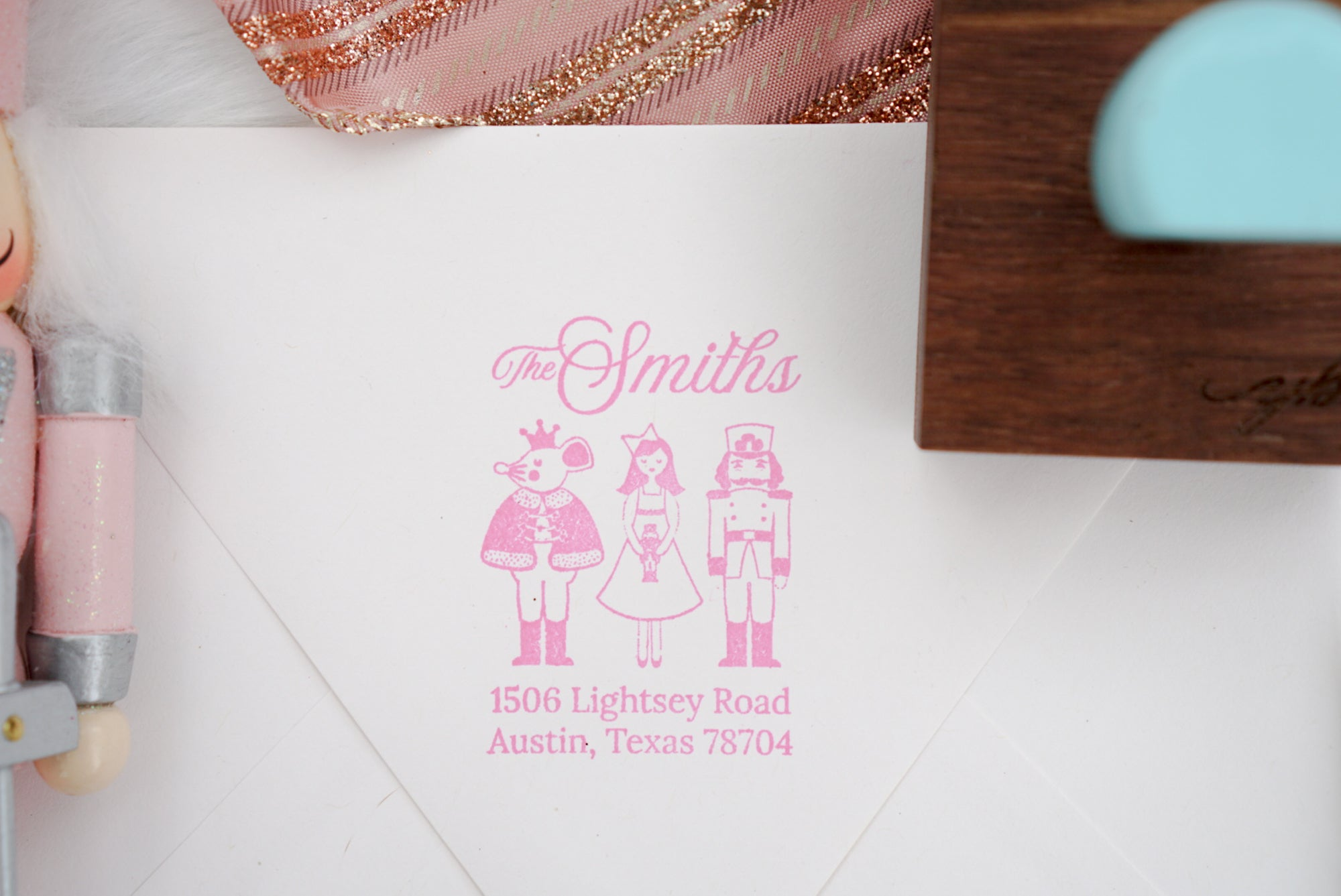 Nutcracker Address - Custom Rubber Stamps