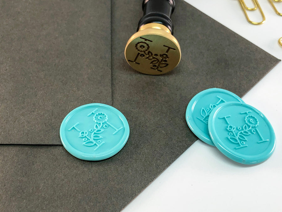 Modern Floral Letter Wax Seal