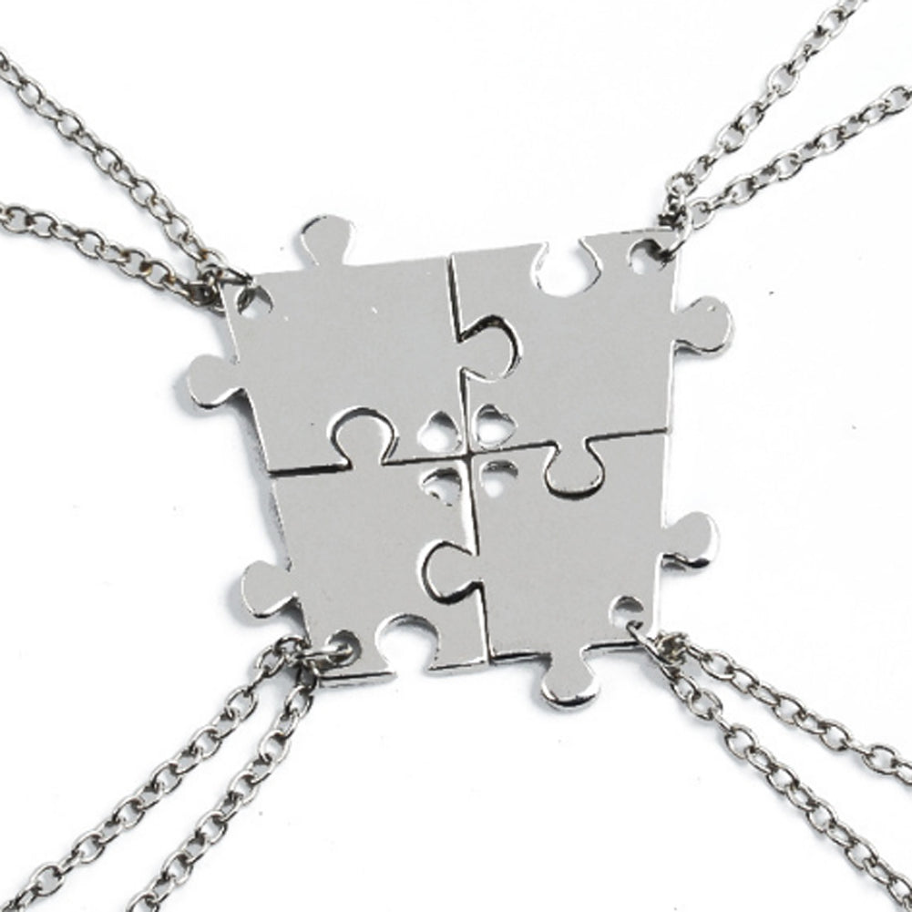 personalized one set necklace his uniqjewelrydesigns puzzle only her piece