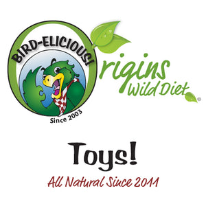 BirD-elicious! Origins Wild Toys™ The Best Bird Toys®