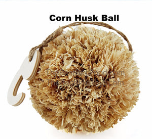Corn Husk Ball Natural Exotic Bird Toy