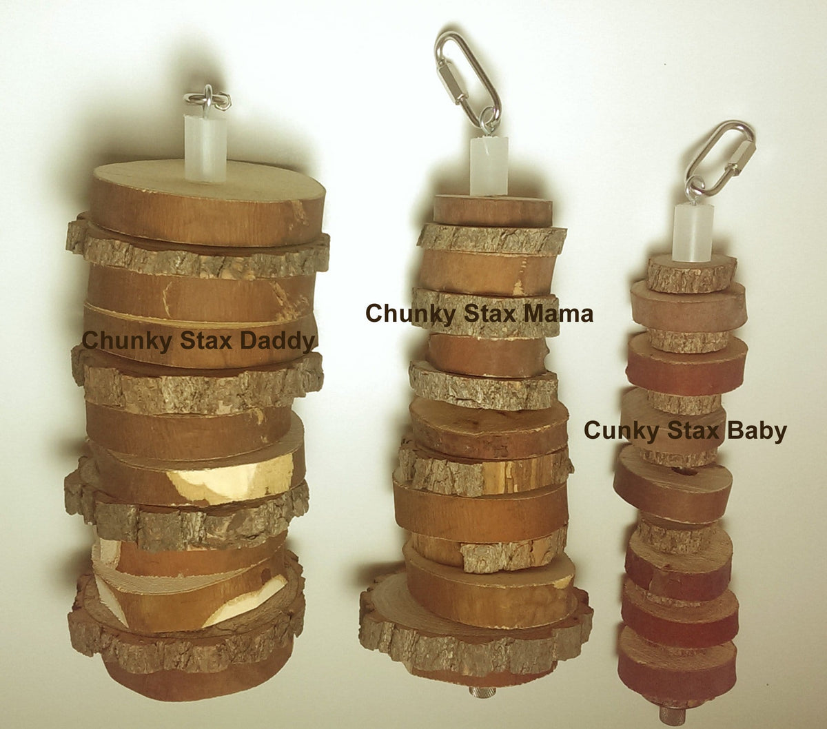Chunky Stax!™ Natural Exotic Bird Toy