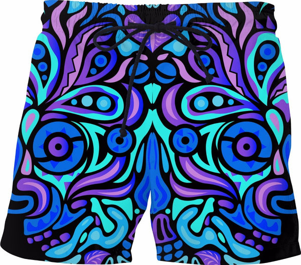 dede51f315 Summer Night Vibes Mens Swim Trunks Neon Bathing Suit Mesh Lining